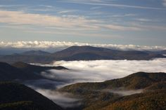 Misty Blue Ridge Mountains in the fall.  blueridgemountainlife.com #fall #blueridgemountains #blueridgeparkway