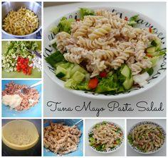 Tuna Mayo Pasta Salad Recipe - This Mummy... @thismummy