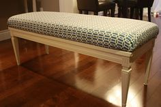 DIY coffee table turned Bench. I love repurposing things!