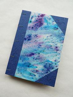 Coptic stitch journal with handmade paper covers - immaginacija