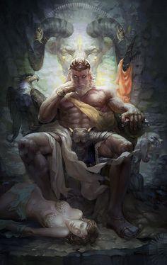 Ten Things You Didnt Know About Greek Gods Artwork Greek Mythology Tattoos, Greek Gods And Goddesses, Greek And Roman Mythology, Fantasy Kunst, Dark Fantasy Art, Fantasy Artwork, Fantasy Warrior, Fantasy Character Design, Character Art