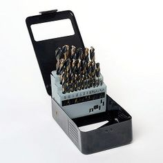 """24 Piece Neiko Tools 1//8/"""" Double Ended Titanium Drill Bits"""
