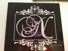 Monogrammed Personalized Customized Marble by PortaCoonGraphics, $25.00