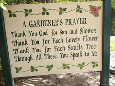 Browse all about prayer garden signs. Garden Crafts, Garden Projects, Garden Art, Flower Power, Prayer Garden, Garden Works, Garden Quotes, Thank You God, Garden Signs