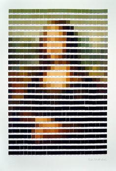 nick-smith-Pantone-arte-pixelado-La Gioconda de Leonardo da Vinci
