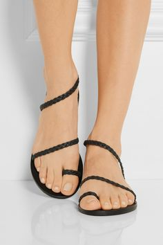 Ancient Greek Sandals | Eleftheria braided leather sandals | NET-A-PORTER.COM