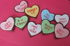 Funny Valentines Day cookies