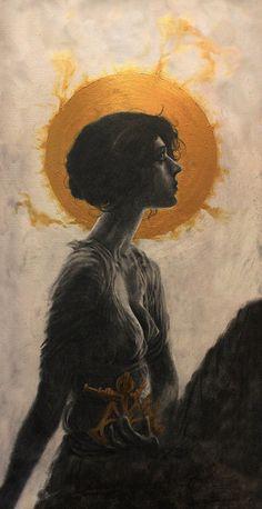 Hypatia - Extra Large Fantasy Art Poster - Pandora Young