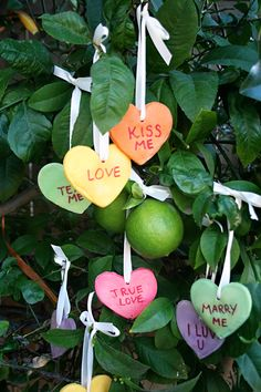 Salt Dough Conversation Heart ornaments