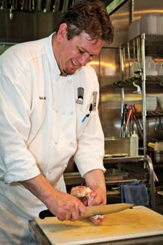 Chef Bob Smith at work on the cutting board. Cucina della Ragazza   Kansas City Spaces