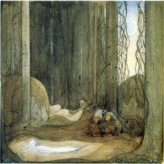 """""""Bortbytingarna"""" from """"Bland Tomtar och Troll"""" 1913, illustrated by John Bauer"""