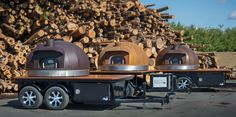 Corten Steel Mobile Oven   Wood Fired Oven   Oven Trio   Le Panyol made by Maine Wood Heat Company