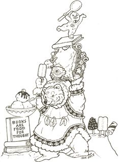 Jan Brett creates wonderful picture books.  This drawing is a free activity from her web site to go with one of her books.