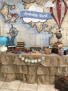 Around the world Baby Shower Party Ideas   Photo 1 of 16