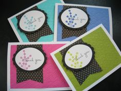 Handmade Thank You Note Cards Thank You Cards Set by apaperaffaire, $8.00