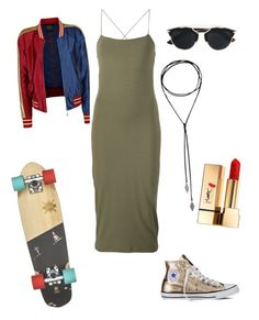 """""""ma certi."""" by lux1905 ❤ liked on Polyvore featuring T By Alexander Wang, Christian Dior, Yves Saint Laurent, Converse, rockerchic and rockerstyle"""