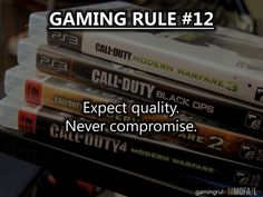 Gaming Rule #12