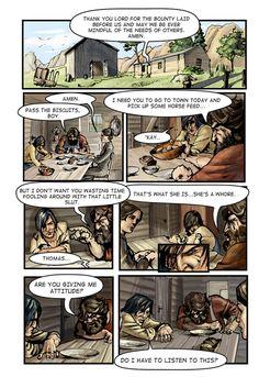 Call of Juarez comic book -Billy's story, p. 1