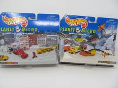 Hot Wheels Mattel Planet Micro City Streets and Blizzard Recovery vintage toy sets by CellarDeals on Etsy