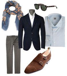 Sportcoat: Boglioli - Shirt: Gherardi - Trousers: Incotex Scarf: Piombo Sunglasses: Moscot Shoes: Carmina.