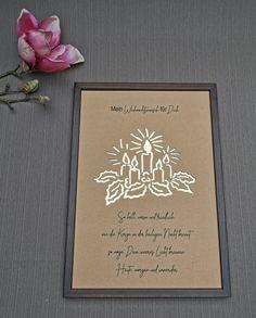 Personalisiertes Geldgeschenk Weihnachten Kerzenkranz XMAS Geldgeschenkverpackung Etsy, Picture Frames, Craft Gifts, Candles, Packaging, Christmas