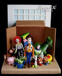 Toy Story Cake Box - by Karla (Sweet K) @ CakesDecor.com - cake decorating website