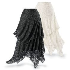 Tiered Lace Skirt - Women's Clothing & Symbolic Jewelry – Sexy, Fantasy, Romantic Fashions