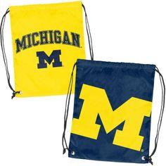 Michigan Wolverines Doubleheader Backsack, Blue