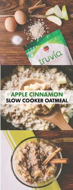 Make Apple Cinnamon Slow Cooker Oatmeal for breakfast the night before! Step 1: Grease slow cooker bowl. Step 2: Cut apples into 1-inch pieces and toss in a bowl with Truvia® Brown Sugar Blend, cinnamon, nutmeg, salt and lemon juice to coat. Step 3: Stir in oats and transfer to the slow cooker. Step 4: Whisk together milk, eggs and water until smooth then pour over the apple mixture. Step 5: Cook on low for 8 hours or on high for 4-5 hours. Recipe makes 6 servings—plenty for the whole…