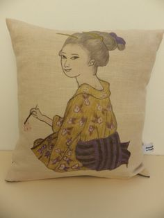 Geisha Kimono Cushion by madeincrawley on Etsy, £14.00