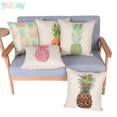 ZLJSMY Pineapple Pillow Case Fashion Home Cushion Pillow Cover For Wedding Christmas Birthday Party Decorative Supplies 7D #Affiliate