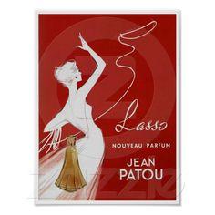 Lasso Nouveau Parfum ~ Vintage französische Anzeige von Zazzle.ch