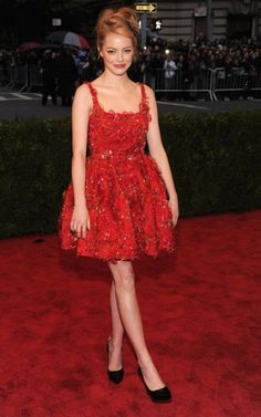 Emma Stone wearing Lanvin at the 2012 Met Ball. Gorgeous.