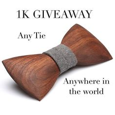 @crookedbranchstudio is doing a giveaway on these sweet wooden bow ties! Go check him out for a chance to get your hands on one!