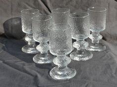 Vintage Iittala Festivo sherry / port / shot glasses by Timo Sarpaneva Kosta Boda, Glass Figurines, Modern Glass, Shot Glasses, Wall Plaques, Craft Supplies, Retro, Vintage, Party