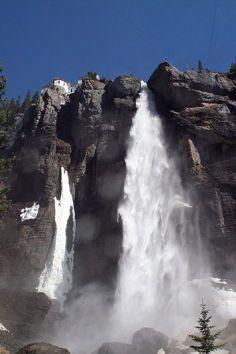 Bridal Veil Falls, a photographer's waterfall paradise in Telluride, Colorado.