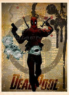 Hey, I found this really awesome Etsy listing at https://www.etsy.com/listing/200959906/deadpool-poster-deadpool-wall-art