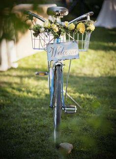 #bicycles  Photography: Heidi Huber Photography - heidihuberphotography.com Floral Design: Botanica Floral Design  Read More: http://www.stylemepretty.com/california-weddings/sacramento/2010/12/15/sacramento-wedding-by-botanica-floral-designs/