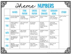 Mrs. Plemons' Kindergarten: Tot School Tuesday: NUMBERS