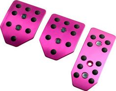 Pink pedal covers