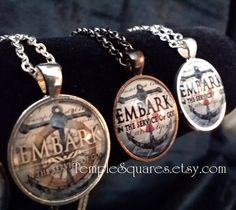 Embark Pendant Necklace YW Young Women Missionary Gifts 2015 Nautical Theme Anchor Rudder Lifesaver Quantity prices as low as 5 dollars each. TempleSquares.etsy.com