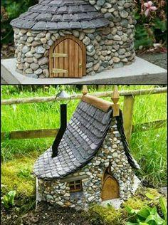Tee pikkukivistä talo metsän tontuille