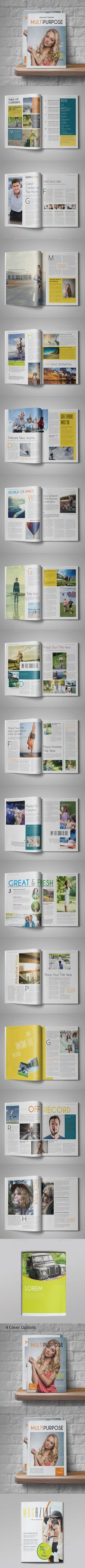 Multipurpose Magazine Template — InDesign INDD #magazine #professional • Available here → https://graphicriver.net/item/multipurpose-magazine-template/12729982?ref=pxcr