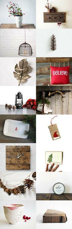 rustic christmas by Jennifer Lyons on Etsy-