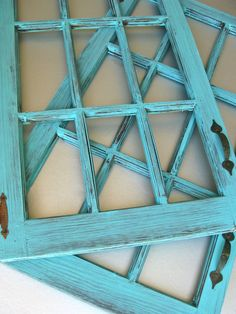 Rustic Wood Door Frames, Turquoise Doors, Farmhouse Decor, Beach Cottage, Shabby and Chic, Cottage Chic