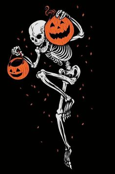 Doing a little dance for Spooky time.
