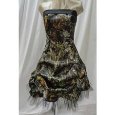2016 Fashion Knee-Length Camo Prom Dresses Party Dress Bridemaid Dress Gown Lace Up Custom Made Camo Bridesmaid Dresses, Camo Wedding Dresses, Grad Dresses, Homecoming Dresses, Cute Dresses, Formal Dresses, Bridesmaids, Dress Prom, Party Dress