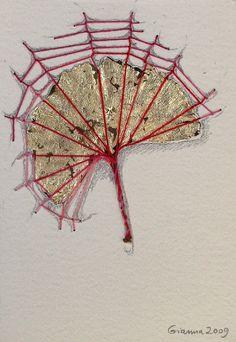 Tied ginkgo leaf
