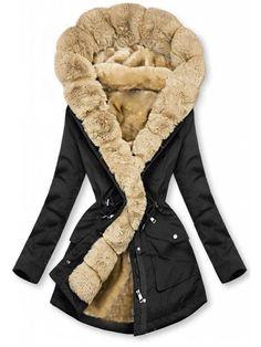 Look Fashion, Winter Fashion, Womens Fashion, Faux Fur Hooded Coat, Winter Stil, Fall Winter, Leopard Print Coat, Long Winter Coats, Outfits