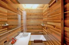 natural home elements wood bathroom 10 Ways to Bring Natural & Organic Elements into Your Interiors